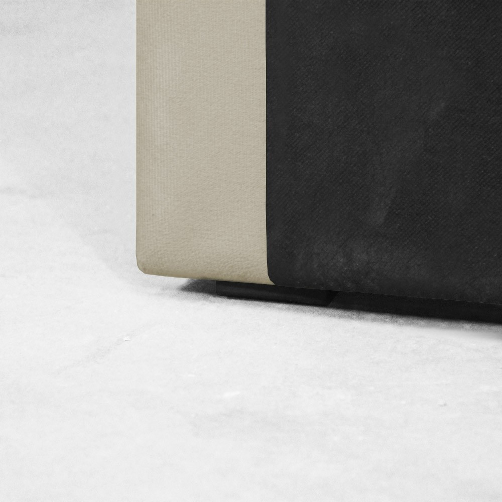 Cabeceira para Cama Box Slim Queen 1,60 m Estofada Suede Bege