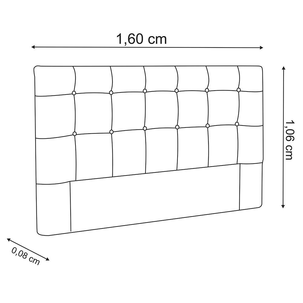 Cabeceira para Cama Box Slim Queen 1,60 m Estofada Suede Bordô