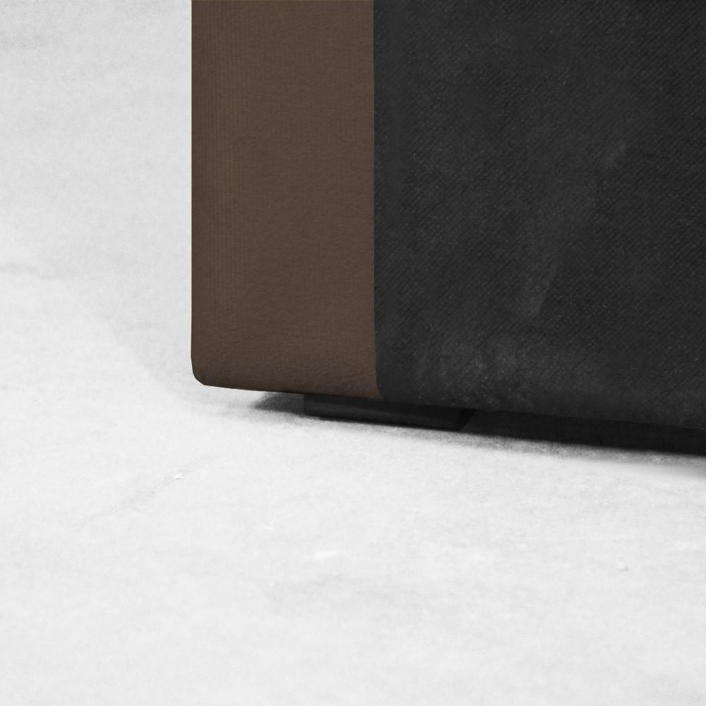 Cabeceira para Cama Box Slim Queen 1,60 m Estofada Suede Marrom