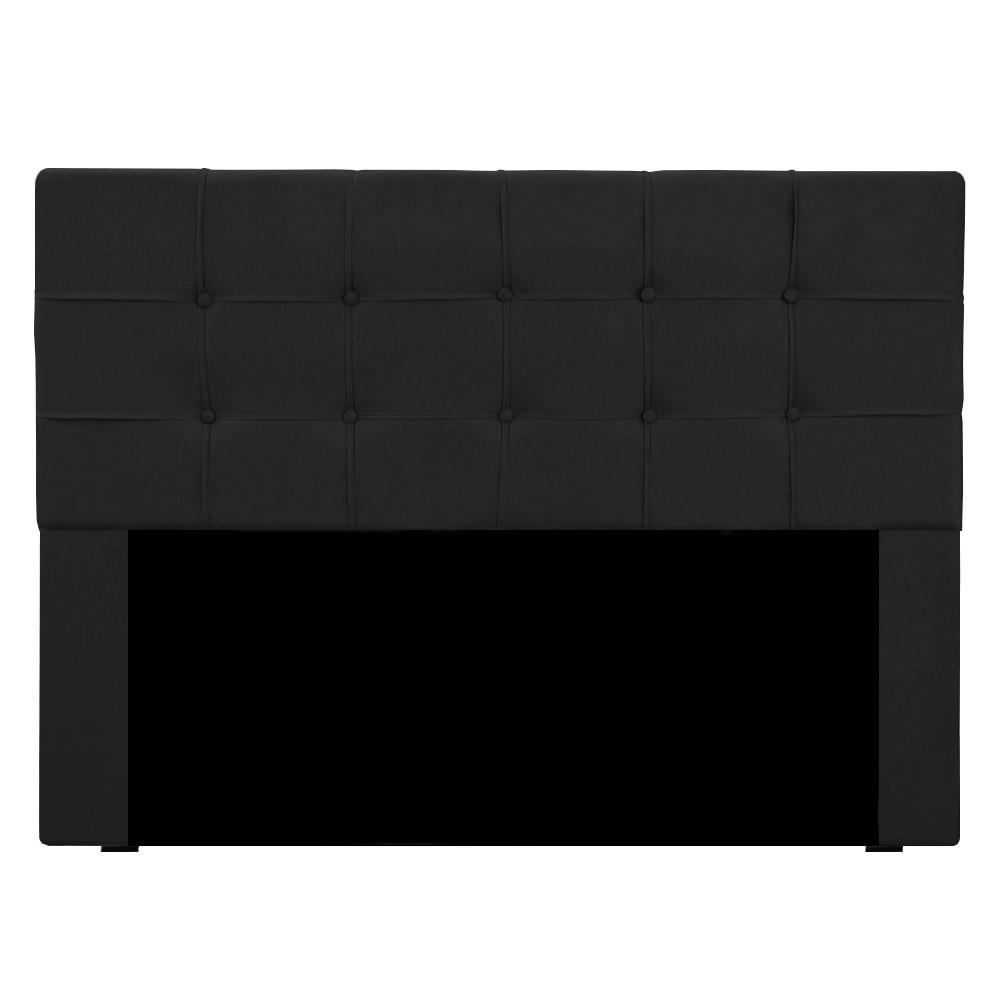Cabeceira para Cama Box Slim Queen 1,60 m Estofada Suede Preto