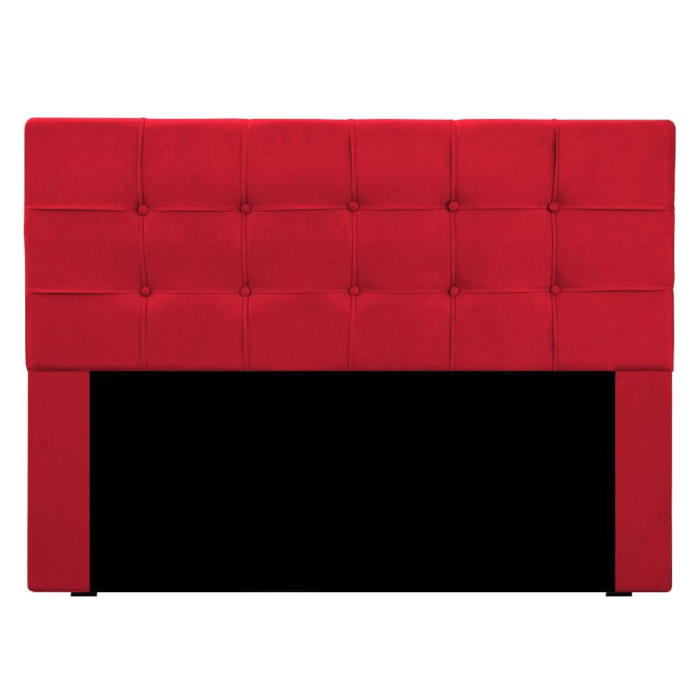 Cabeceira para Cama Box Slim Queen 1,60 m Estofada Suede Vermelho