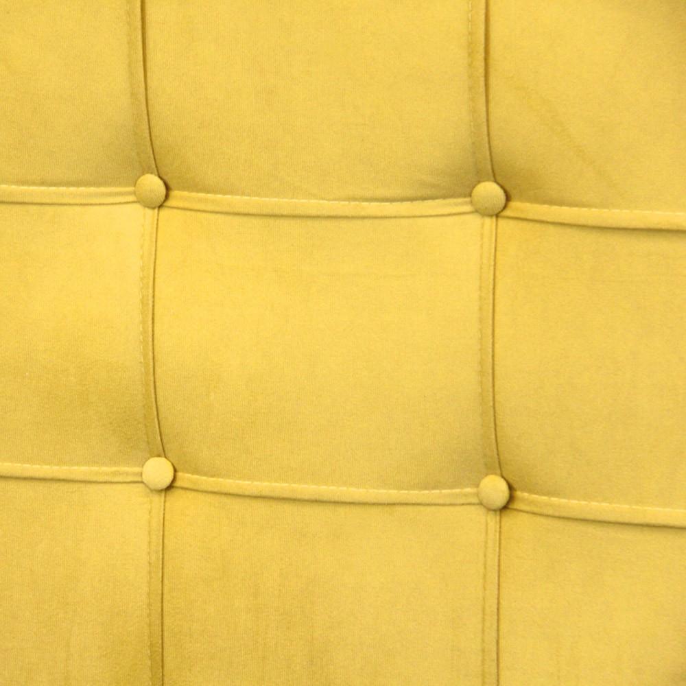Cabeceira para Cama Box Slim King 1,95 m Estofada Suede Amarelo