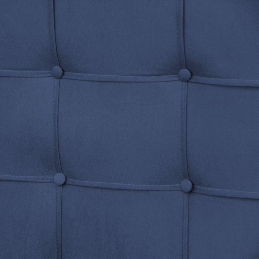 Cabeceira para Cama Box Slim King 1,95 m Estofada Suede Azul Marinho