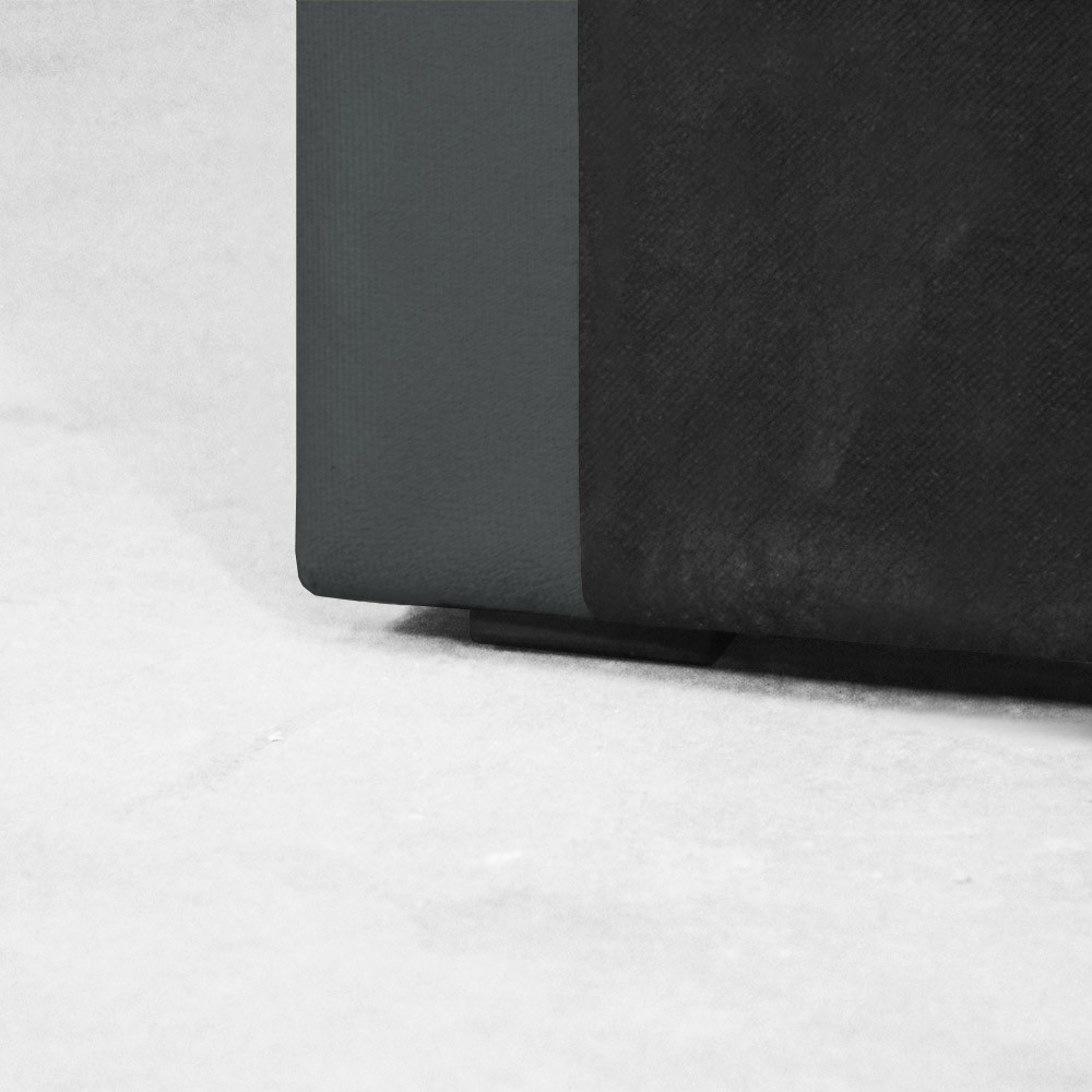 Cabeceira para Cama Box Slim Solteiro 0,90 cm Estofada Suede Cinza Grafite