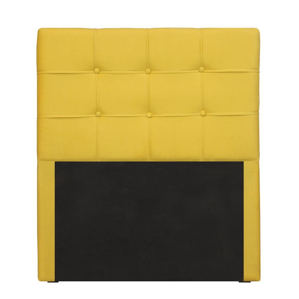 Cabeceira para Cama Box Slim Solteiro 1,00 cm Estofada Suede Amarelo