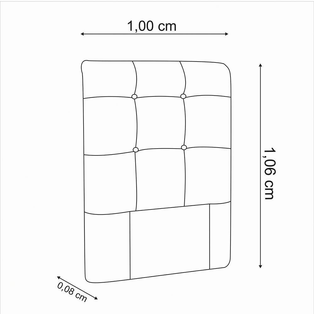 Cabeceira para Cama Box Slim Solteiro 1,00 cm Estofada Suede Marrom