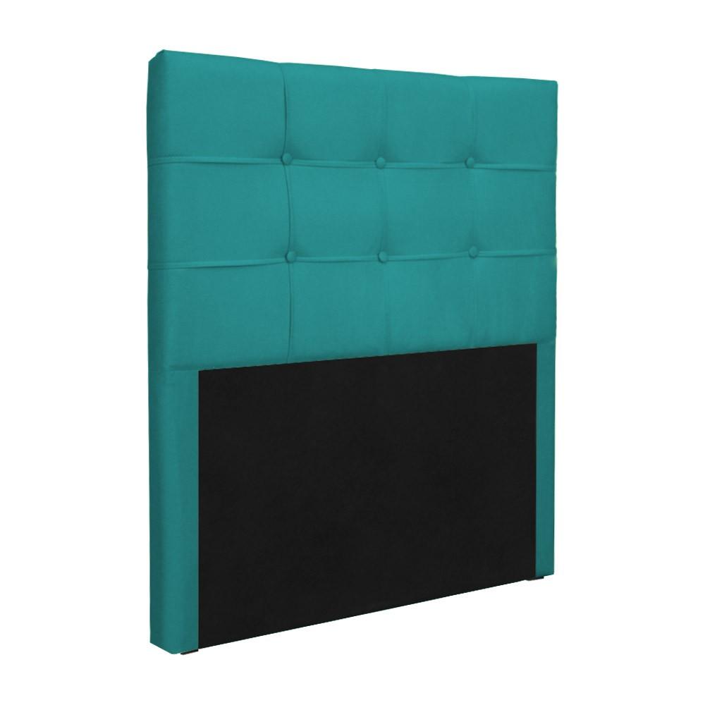 Cabeceira Solteiro Slim 90cm Suede Azul Tiffany