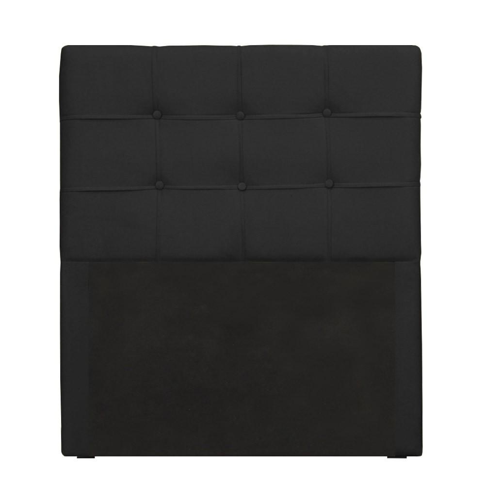 Cabeceira para Cama Box Slim Solteiro 0,90 cm Estofada Suede Preto
