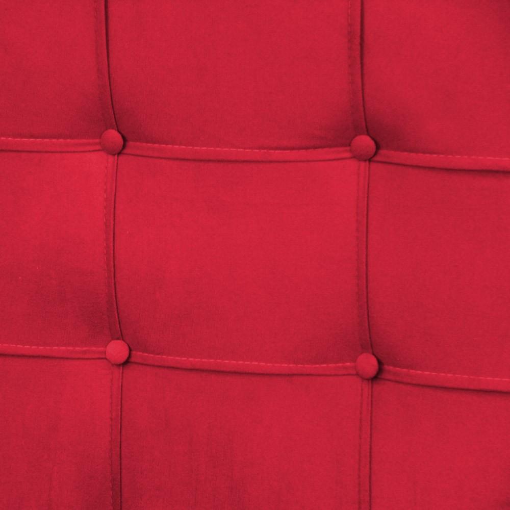 Cabeceira para Cama Box Slim Solteiro 0,90 cm Estofada Suede Vermelho