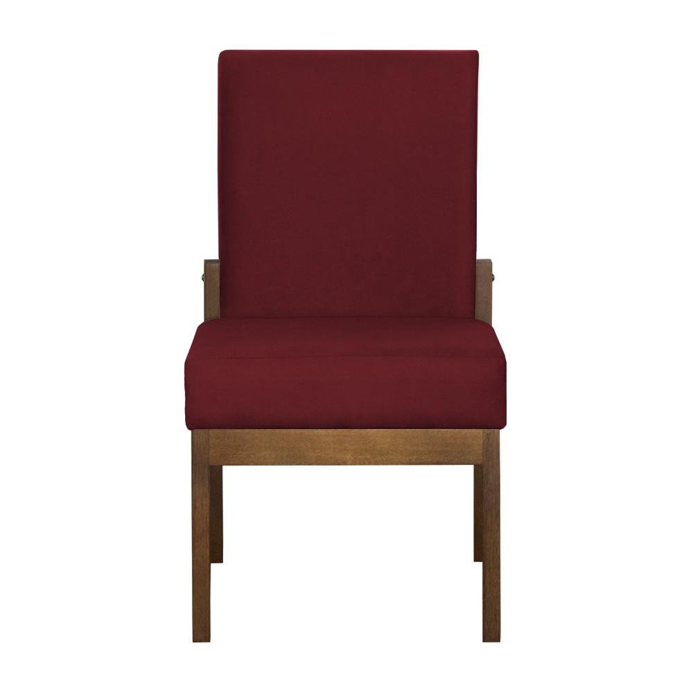 Cadeira de Jantar Helena Suede Bordô - Decorar Estofados
