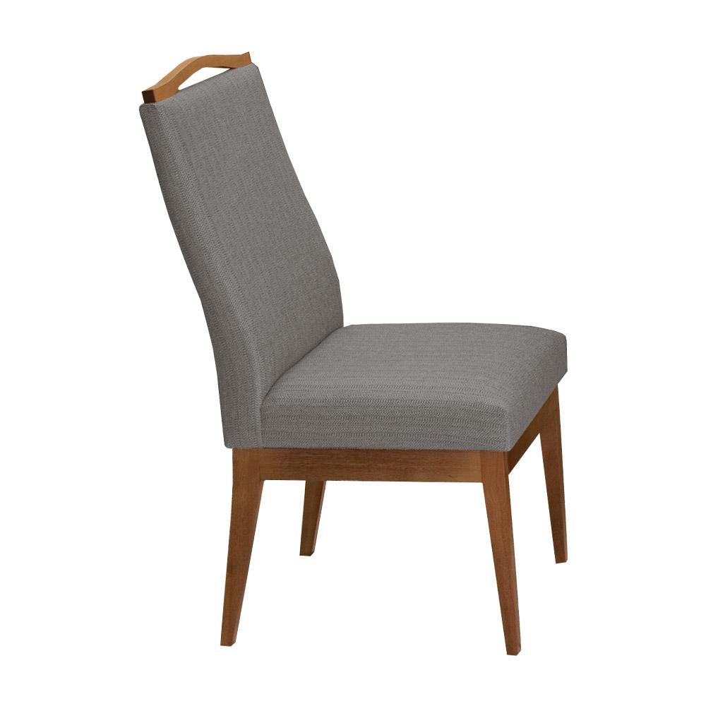 Conjunto 2 Mesa Luiza Preto 1,35 m + Aparador Luiza + Cadeiras Lara Linho/Poliéster Cinza 10 Lugares