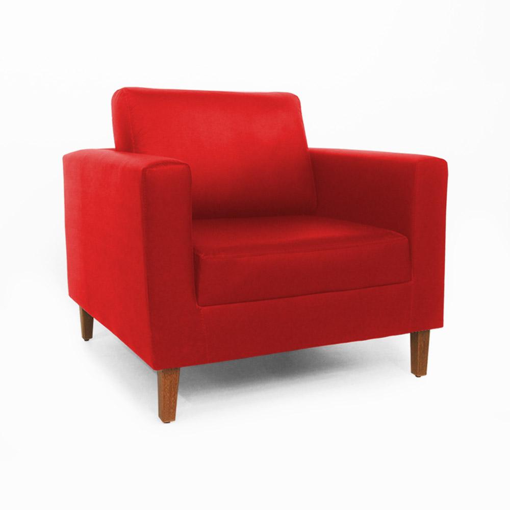Conjunto 2 Poltrona Decorativa Gabriela Courino Vermelho