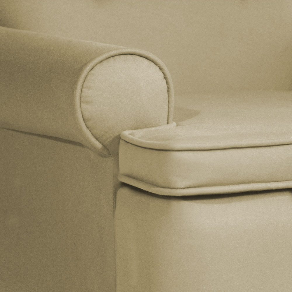 Conjunto 2 Poltrona Vovó Lucy Decorativa Luxo Suede Nude