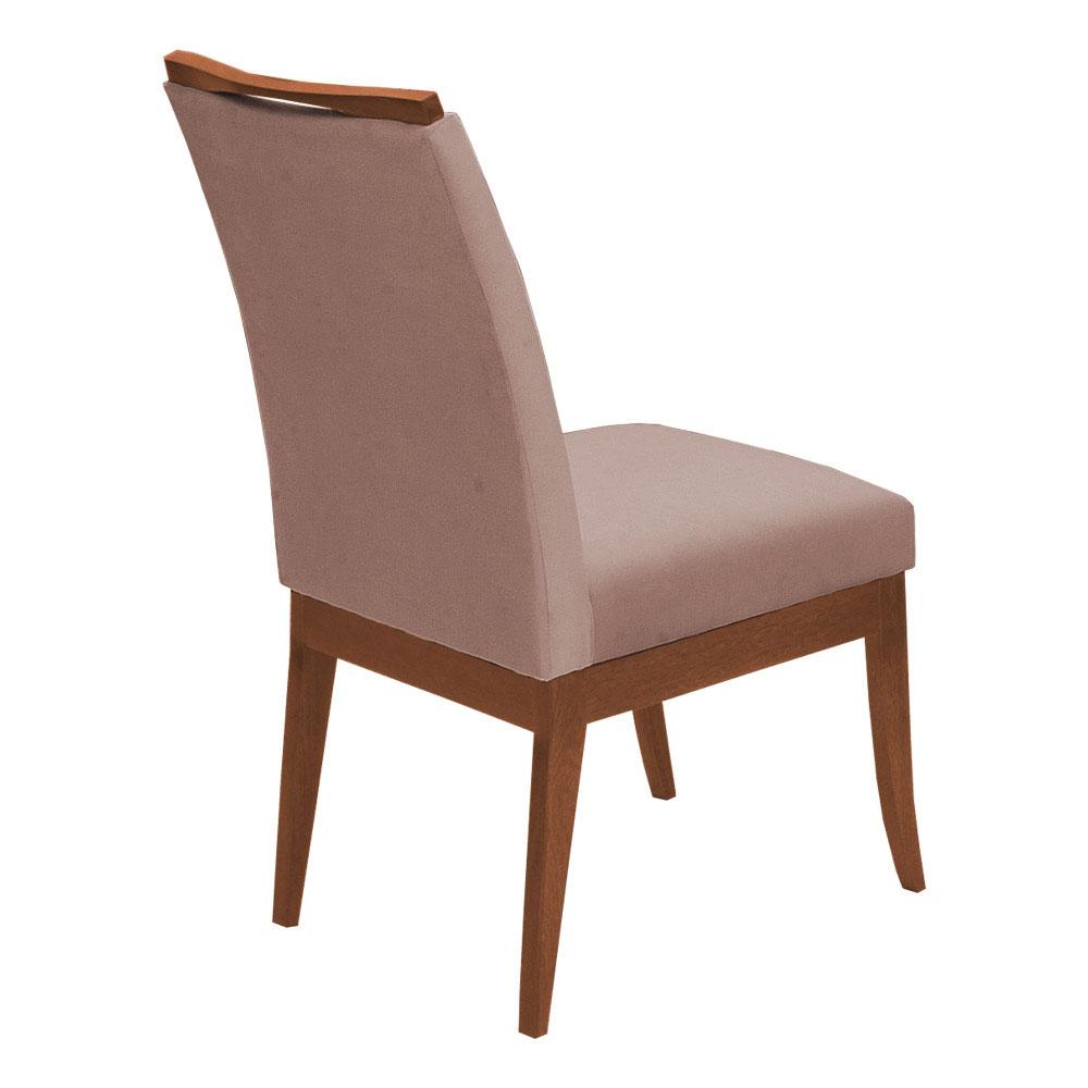 Conjunto Mesa Larissa 1,04 m Off White + 4 Cadeiras Lana Veludo Crepe