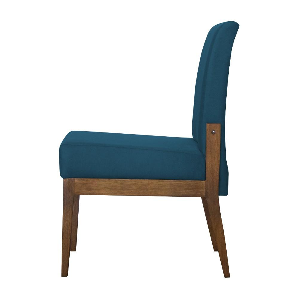 Cadeira de Jantar Helena Suede Azul Marinho - Decorar Estofados