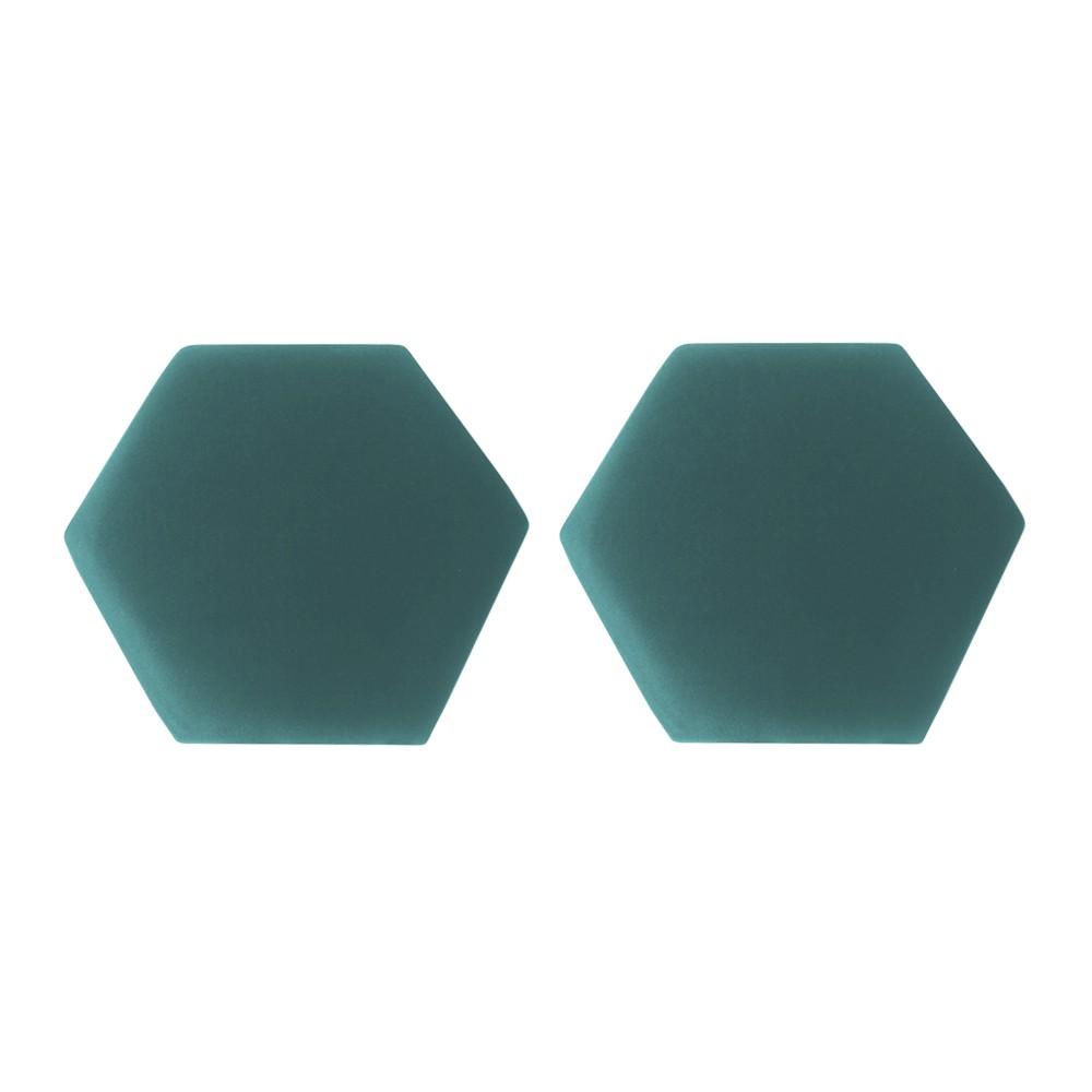 Kit 02 Puffs Decorativo Aramado Preto Mia Suede Azul Tiffany