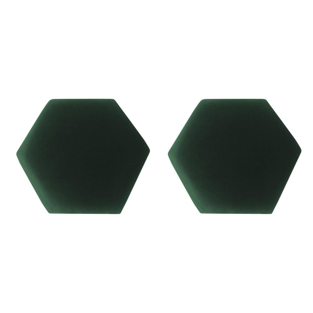 Kit 02 Puffs Decorativo Aramado Preto Mia Suede Verde Bandeira