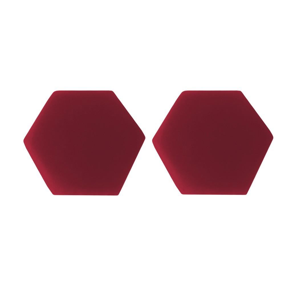 Kit 02 Puffs Decorativo Aramado Preto Mia Suede Vermelho