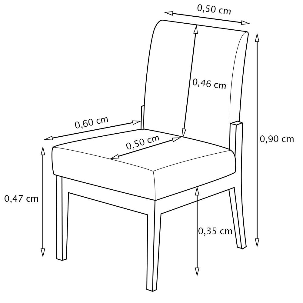 Kit 2 Cadeiras Jantar Helena Estofada Casa Cozinha Bege