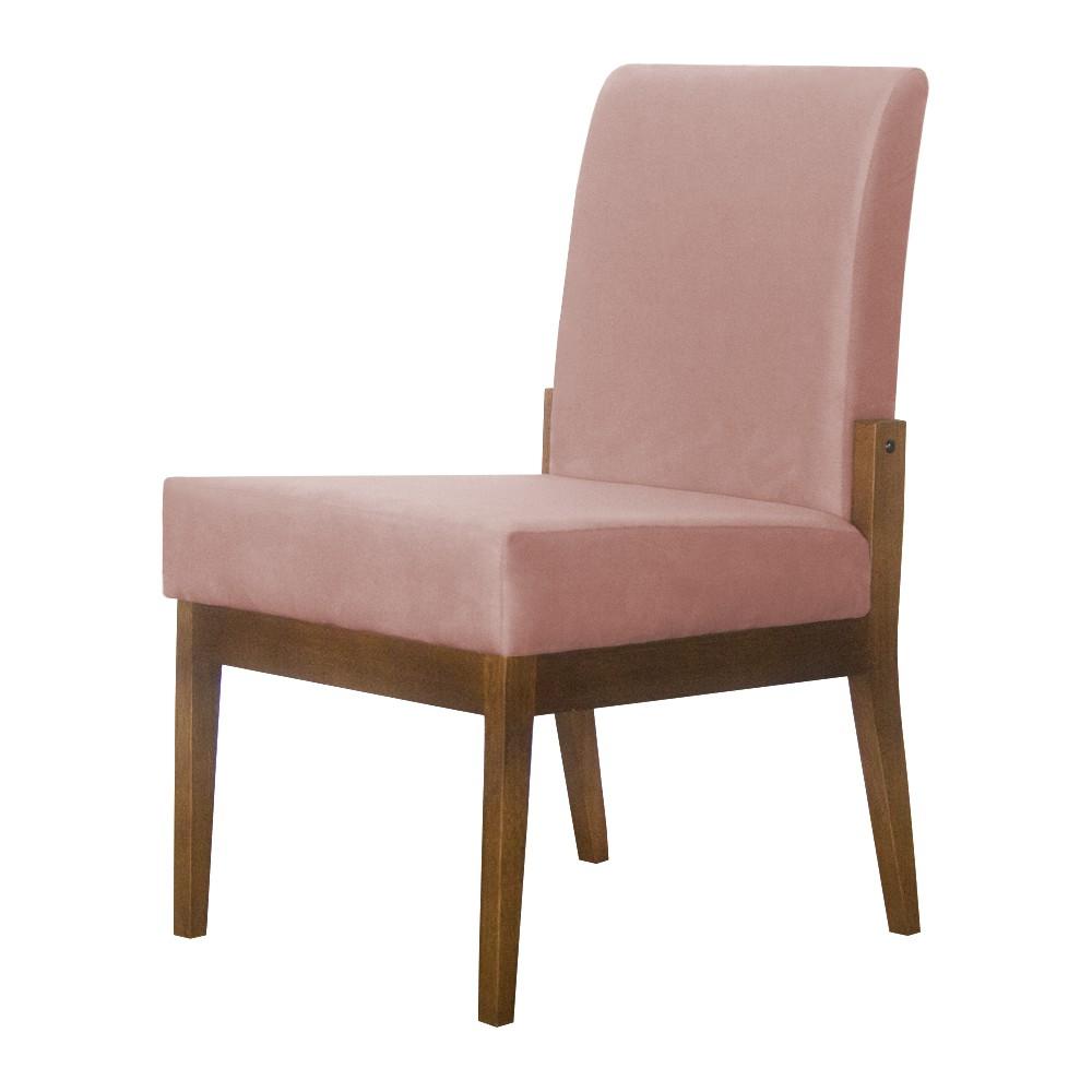 Kit 02 Cadeiras de Jantar Helena Suede Crepe - Decorar Estofados