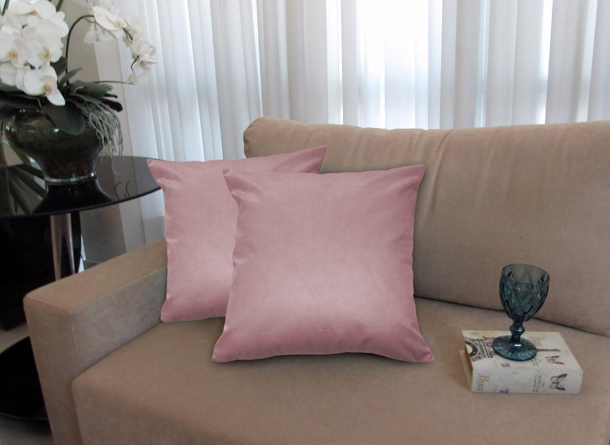 Kit 4 Almofadas Decorativas 40x40 Tecido Suede Crepe
