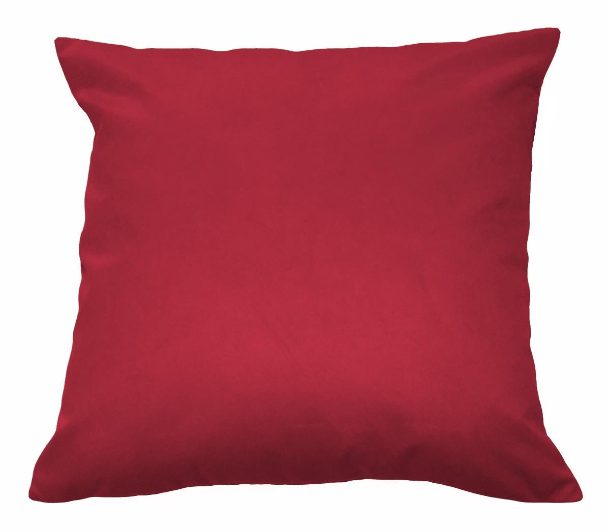 Kit 4 Almofadas Decorativas 50x50 Tecido Suede Vermelho