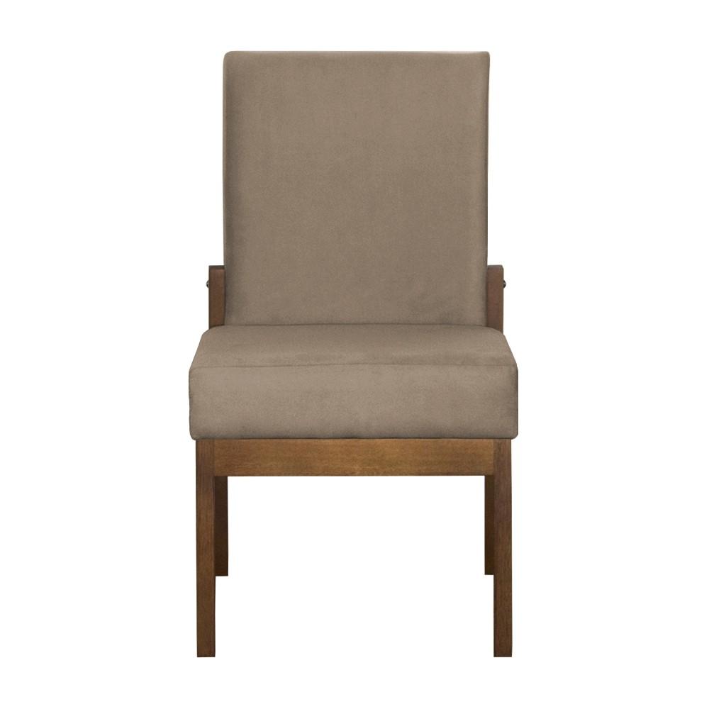 Kit 06 Cadeiras de Jantar Helena Suede Cappuccino