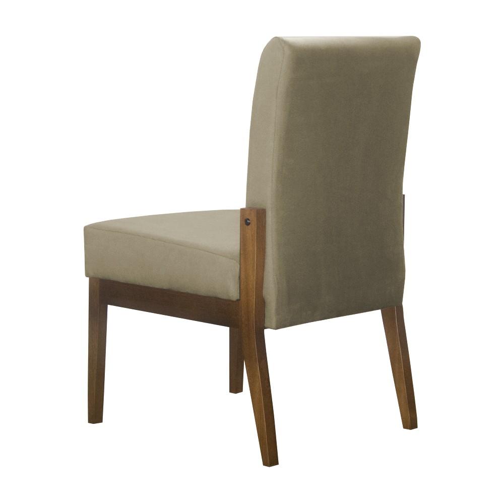 Kit 06 Cadeiras de Jantar Helena Suede Nude