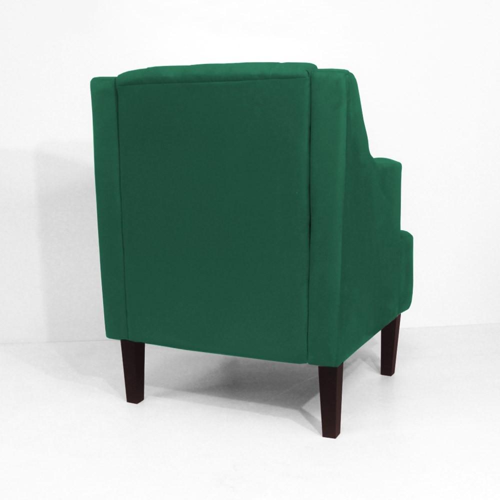 Kit Namoradeira + 2 Poltronas Classic Capitonê Suede Verde Bandeira