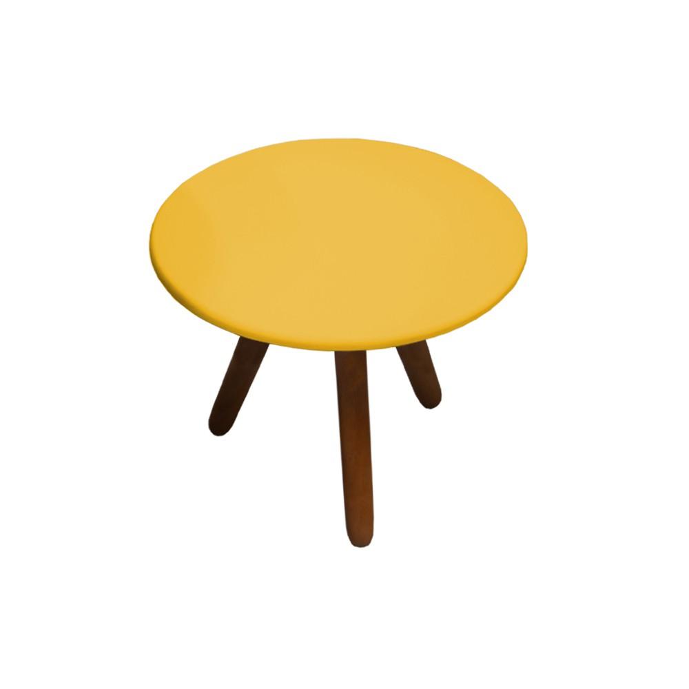 Mesa de Centro para Sala Laura Amarelo Semi Brilho - Decorar Estofados