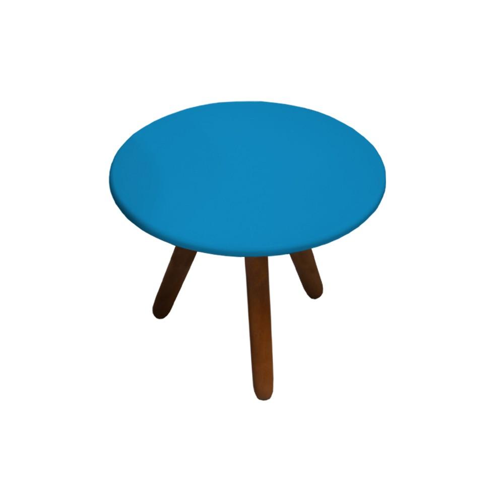Mesa de Centro para Sala Laura Azul Semi Brilho - Decorar Estofados