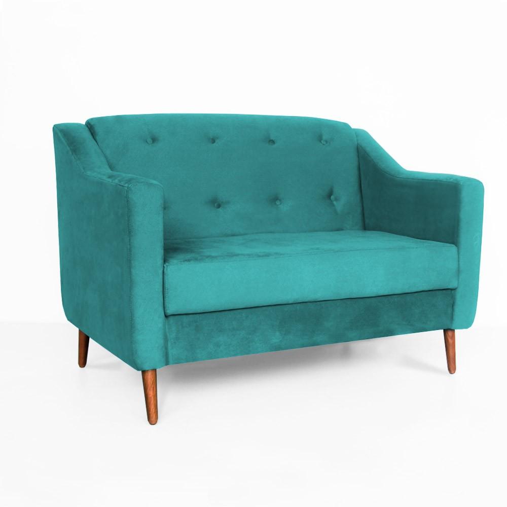 Namoradeira Bruna Pé Palito Suede Azul Tiffany