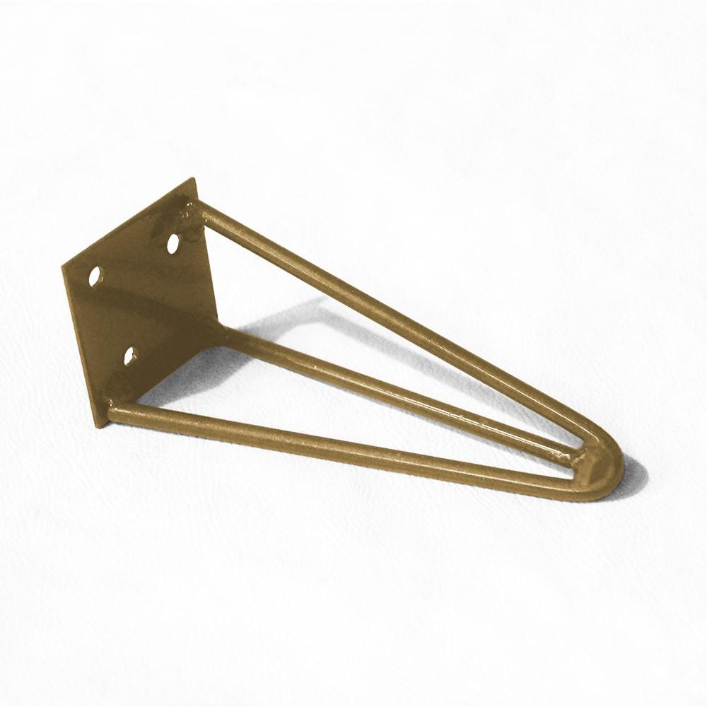 Pé Hairpin Legs 15 cm Dourado De Ferro Para Banquetas, Puffs, móveis