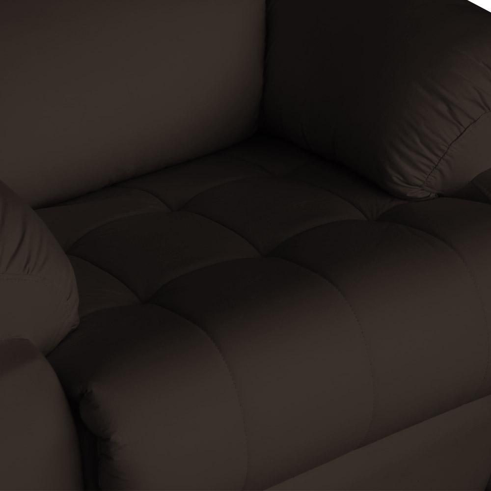Poltrona Decorativa Magnum Reclinável Elétrica com Massagem Courino Marrom
