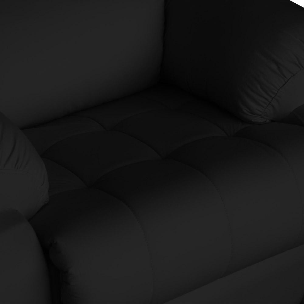 Poltrona Decorativa Magnum Reclinável Elétrica com Massagem Courino Preto