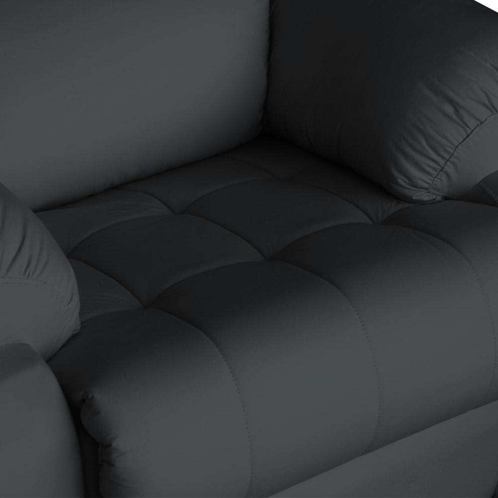 Poltrona Decorativa Magnum Reclinável Elétrica com Massagem Suede Cinza