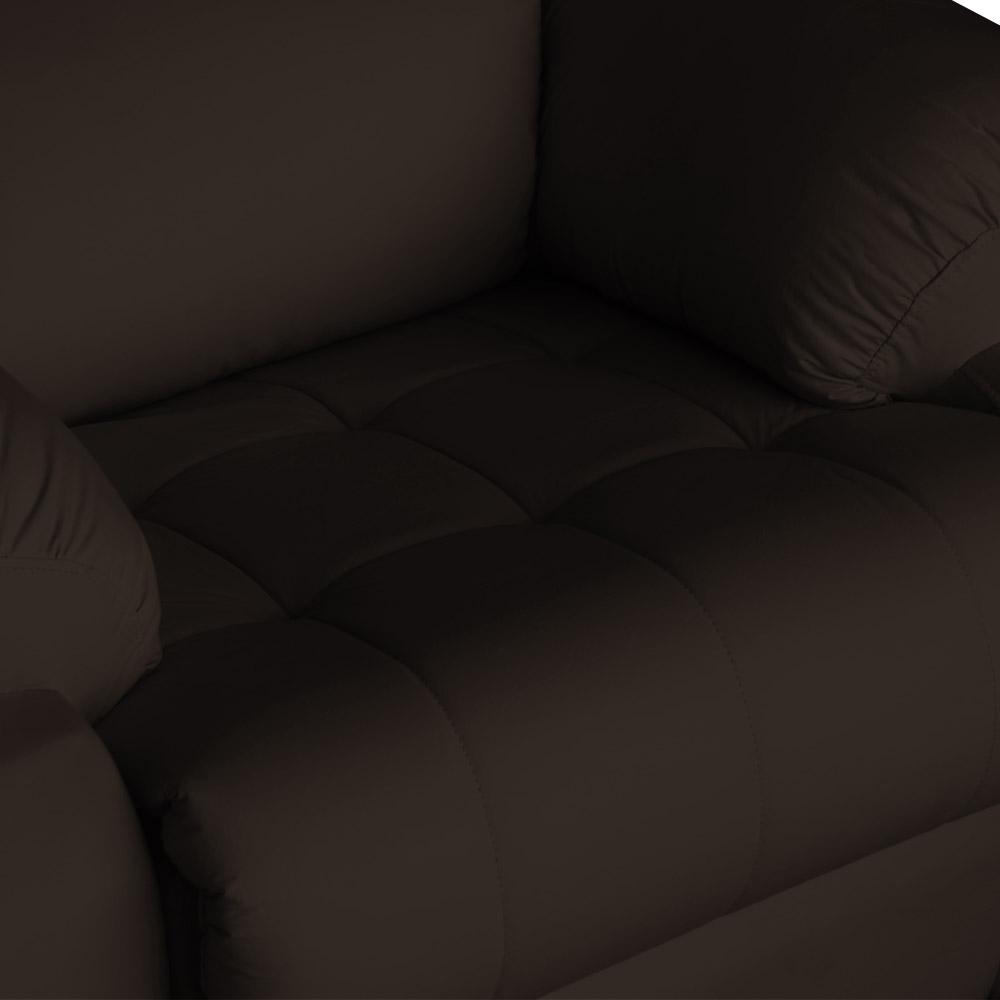 Poltrona Decorativa Magnum Reclinável Elétrica com Massagem Suede Marrom