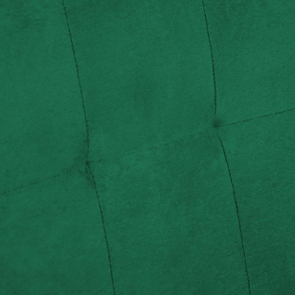 Poltrona Megan Decorativo Base Prata Suede Verde Bandeira