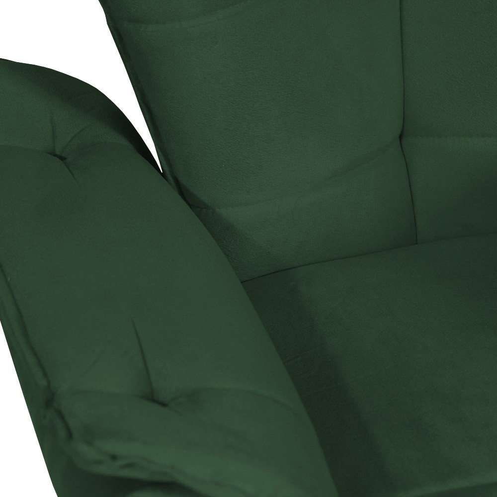 Poltrona Opala Decorativa Sala Suede Verde Bandeira