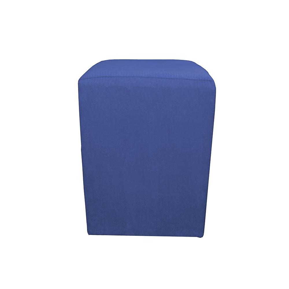 Puff Decorativo Quadrado 32 x 32 Dado Suede Azul Marinho