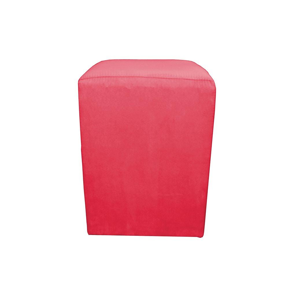 Puff Puffs Dado Nobile Artefatos Suede Vermelho