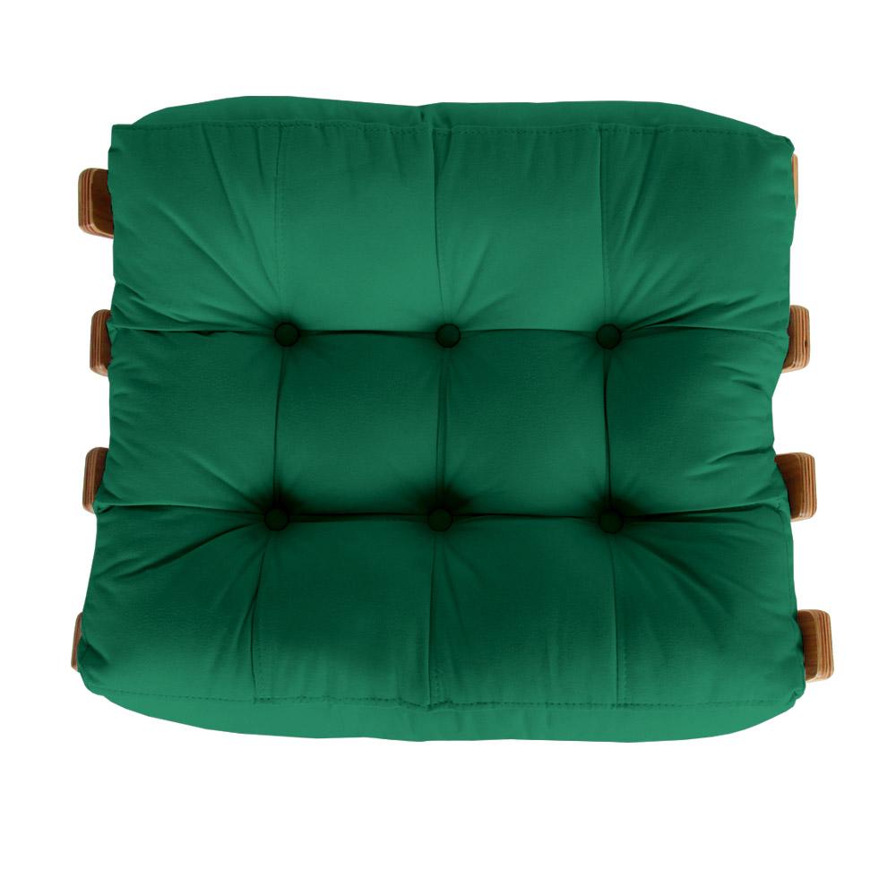 Puff Decorativo Sala de Estar Costela Rib Suede Verde Bandeira