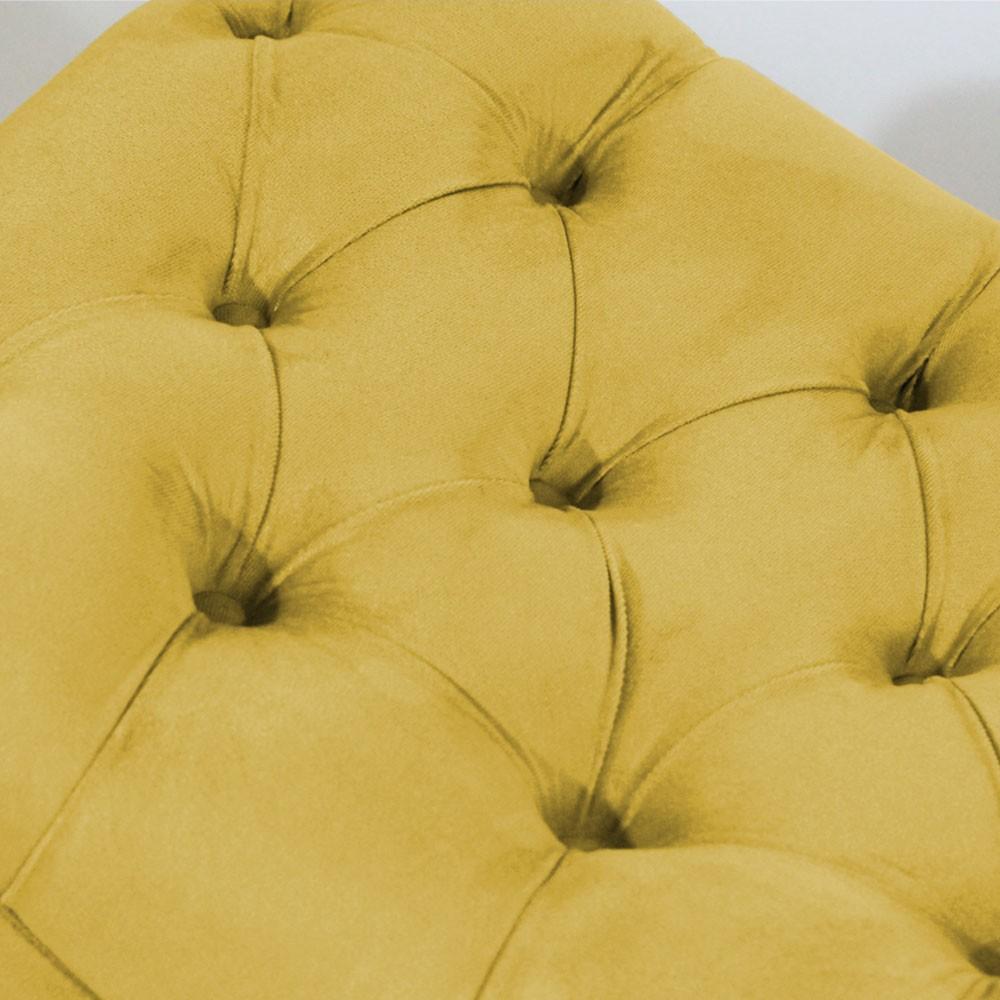 Recamier Persa Decorativo Quarto Suede Amarelo
