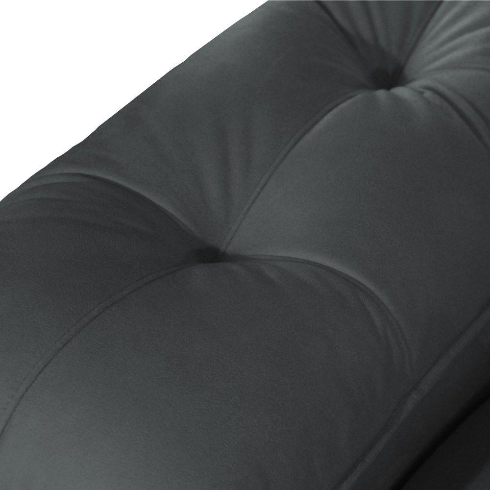 Sofá Retrátil Reclinável Fusion 2,55m 4 Lugares Suede Cinza