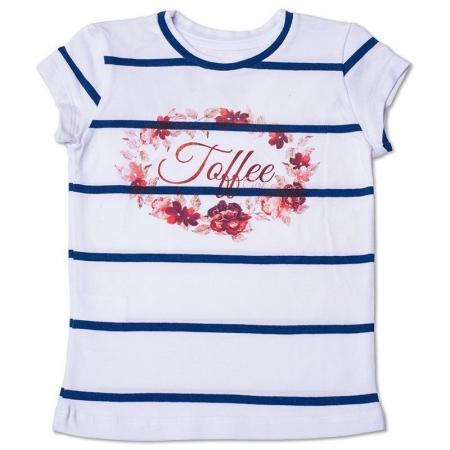 Baby Look Infantil Listrada com Arte Toffee Cor Branca - Nº03