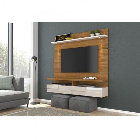 Bancada Suspensa Lana 160 cm TV 60 Madetec Naturale Off W