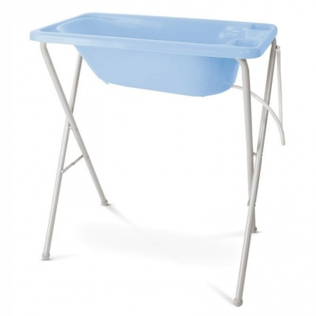 Banheira para Bebê Rígida com Suporte Galzerano Cor Azul