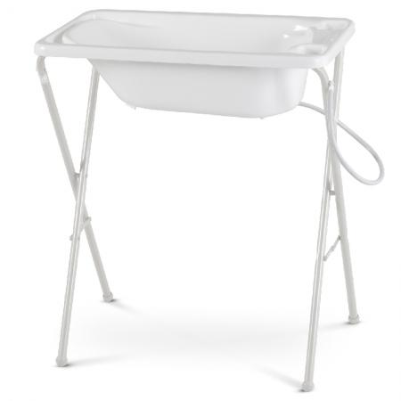 Banheira para Bebê Rígida com Suporte Galzerano Cor Branco