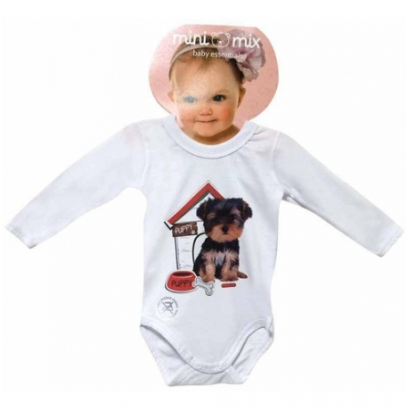 Body Manga Longa Mini Mix Puppy Dog Gbaby - G