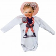 Body Manga Longa Mini Mix Tênis GBaby
